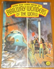 Look and Learn Book of Railway Wonders of the World 1974 #1974