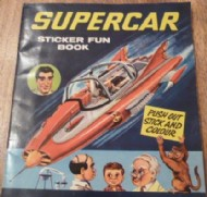 Supercar Sticker Fun Book 1965