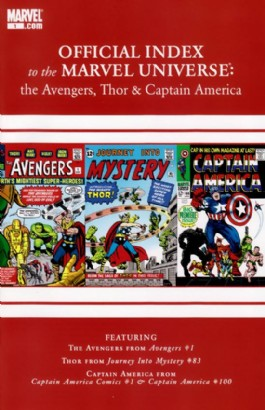 Official Index to the Marvel Universe: the Avengers, Thor and Captain America #1