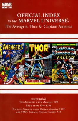 Official Index to the Marvel Universe: the Avengers, Thor and Captain America #3
